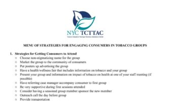 thumbnail of TCTTAC Menu of strategies for getting consumers to attend tobacco groups